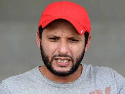 Shahid Afridi saw the match sitting in the stadium between the spectators