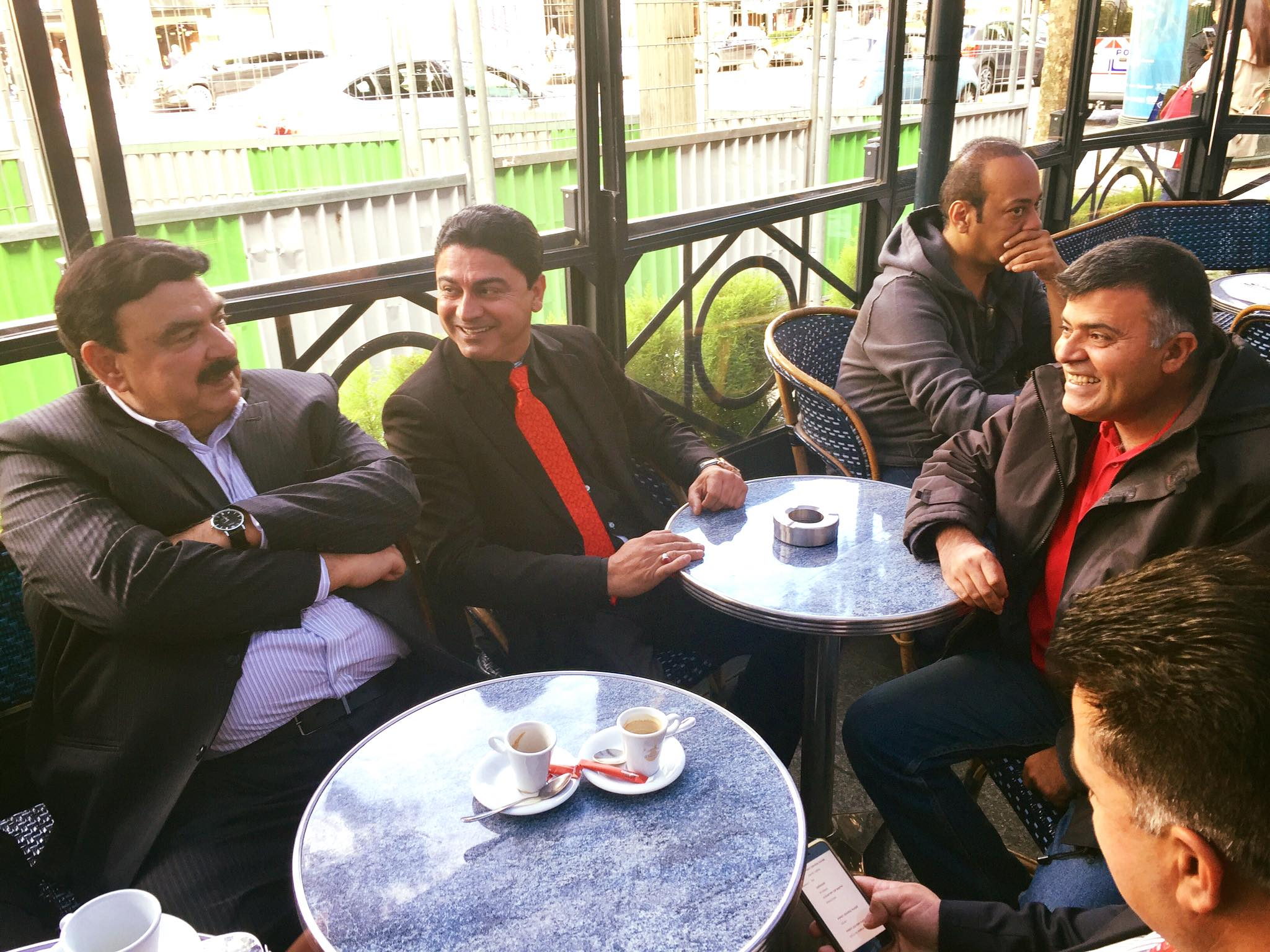 chairman, awami, muslim, league, sheikh rasheed ahmed, reached, paris, on, invitation, of, PTI, leaders, in France