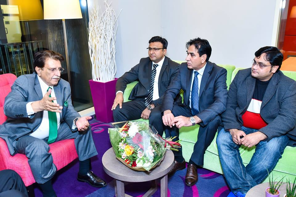 Prime Minister, Azad Kashmir, Raja Faroq Haider, visit, to, Paris, to, boost, the, Kashmir, Issue, Raja Ashfaq Hussain, and, Chaudhry, Naeem, looking, after, the, preparations, for, this, crucial, visit