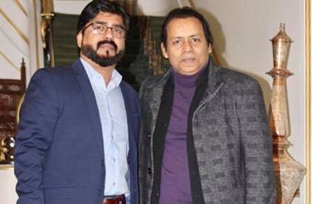 Ustad Rafaqat Ali Khan, with Imran Younas, Organizer, Musical Night, at Zaiqa Restaurant