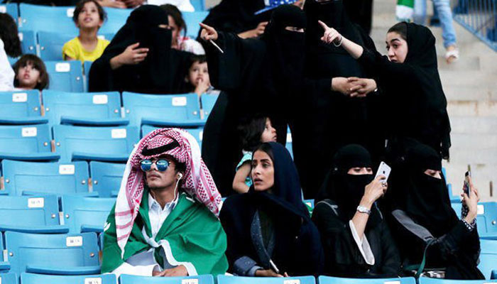 Saudi Arabia, Females, permitted, to, see, Football, match, in, Stadium