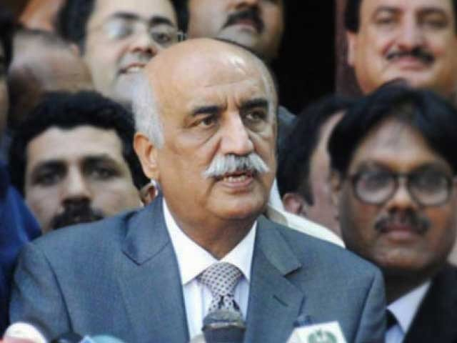 Nawaz Sharif's goal is to eliminate the reputation of institutions, Khursheed Shah