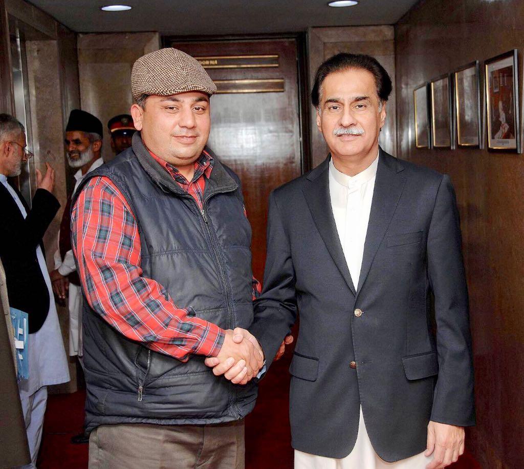 Ex-President, PMLN, France, Javed, Akhtar, Butt, meeting, Speaker, National Asswembly, Sardar Ayaz Sadiq,
