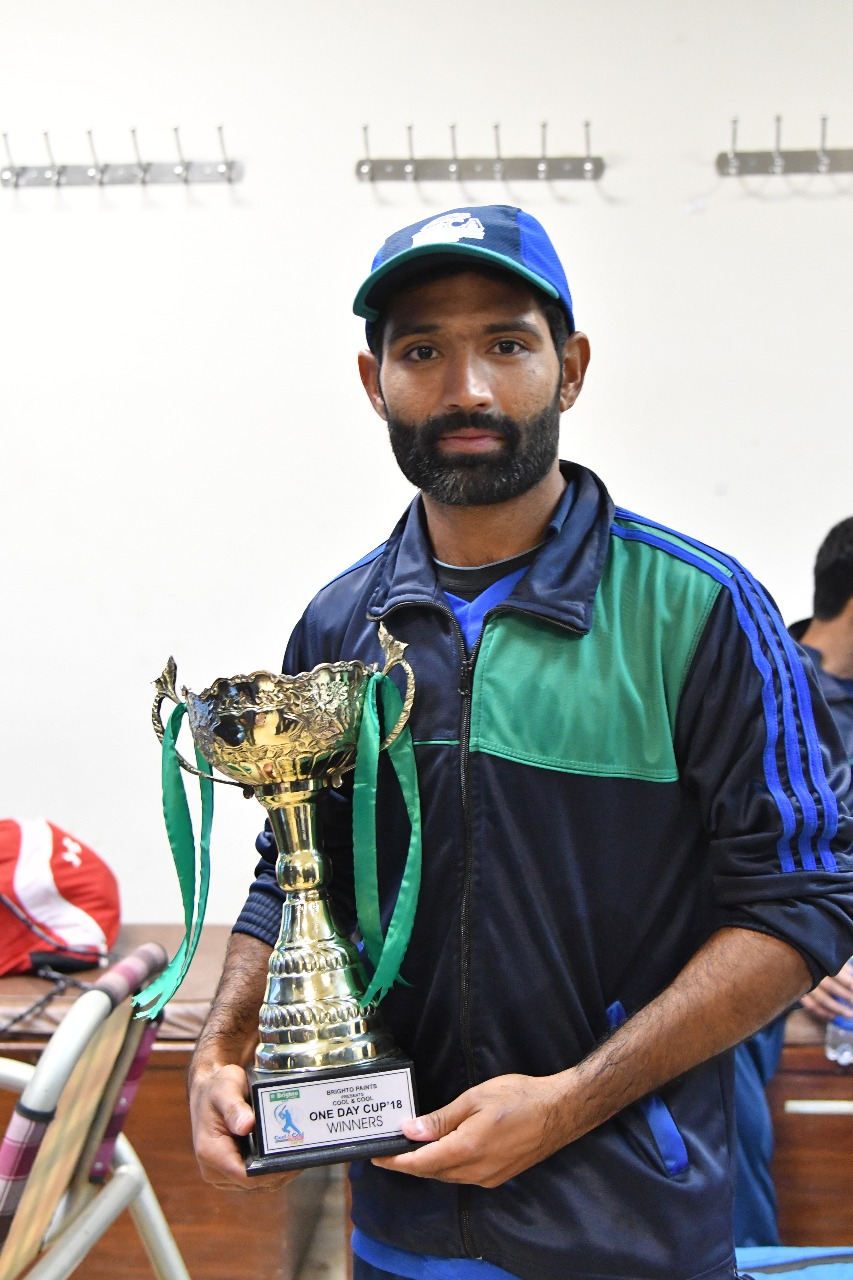 Inter regional national ODI cricket cup final, karachi whites, took a beautiful trophy after winning, the Islamabad team defeated by five wickets