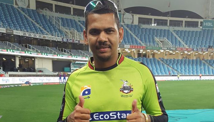 LAHORE, QALANDARS, WON, THE, MATHC, SHEHBAZ, SHARIEF, SUGGESTED, TO, DEDICATE, A, PUL, TO, SUNIL NARAINE