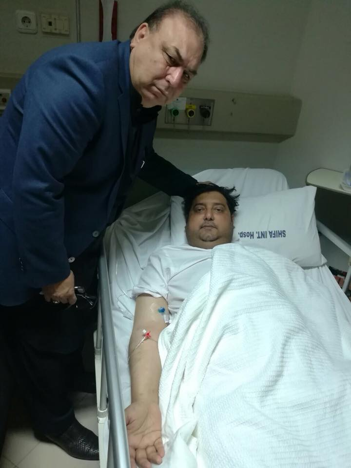 islamabad, ex-president, pmln, france, javed akhtar butt, visiting, al shifa, hospital, islamabad, to, his, dearest, friend, and, literary, person, syed aal e abbas