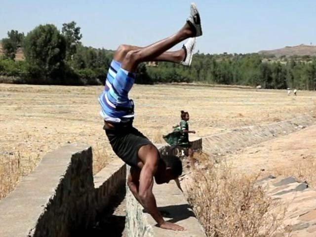 Ethiopian inhabitants addiction to walking on hands instead of foot