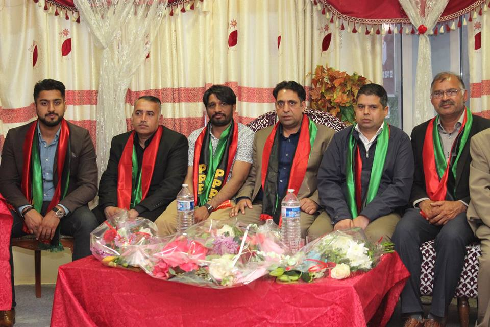 Haji, muzzamal, hussain, organized, an , dinner, in, honor, of  chaudhry, muhammad, razzaq, dhal, newly, elected, PRESIDENT, PPP, FRANCE