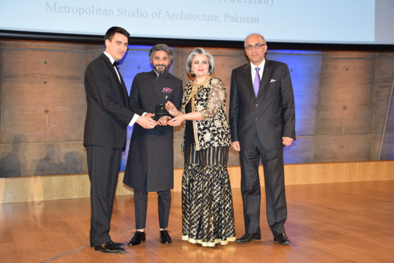 Mr. Jerome Gouadain, Secretary General of the Prix Versailles gave away the Award to Syed Fawad Hassain, the founder and principal architect of MSA during an impressive ceremony held at the UNESCO Headquarter in Paris on 15-05-2018. Ambassador of Pakistan to France Moin ul Haque was present in the Versailles Award ceremony.