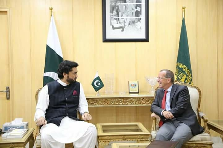 Honorable, ambassador , for Germany, meet, interior, mnister, shehryar khan afridi