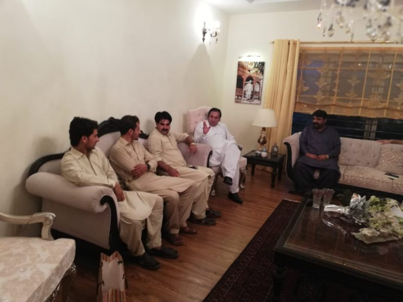 muddasir iqbal kazmi, meet, Governor, Gilgit Baltistan, at, bani gala