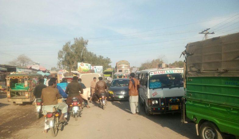 GT, road, harrappa, wagan, and, rickshaw, illegal stand,