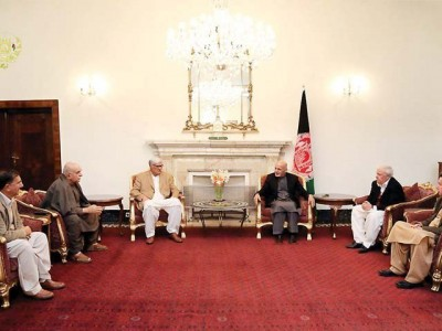 Ashraf Ghani and Pakistani Delegation Meeting
