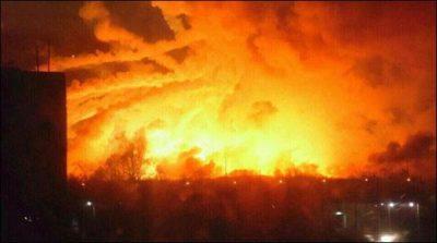 Ukraine: Cannon fire in the ammunition depot, mass destruction