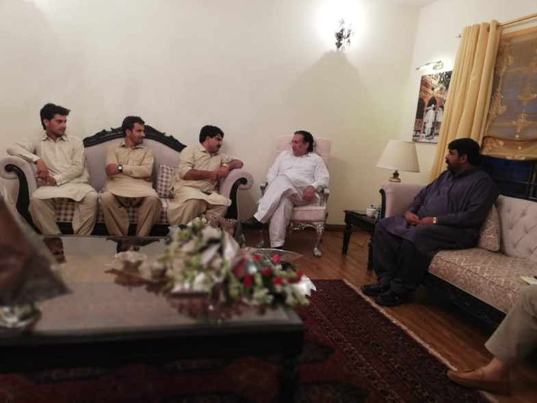 muddasir iqbal kazmi, meet, Governor, Gilgit Baltistan, at, bani gala