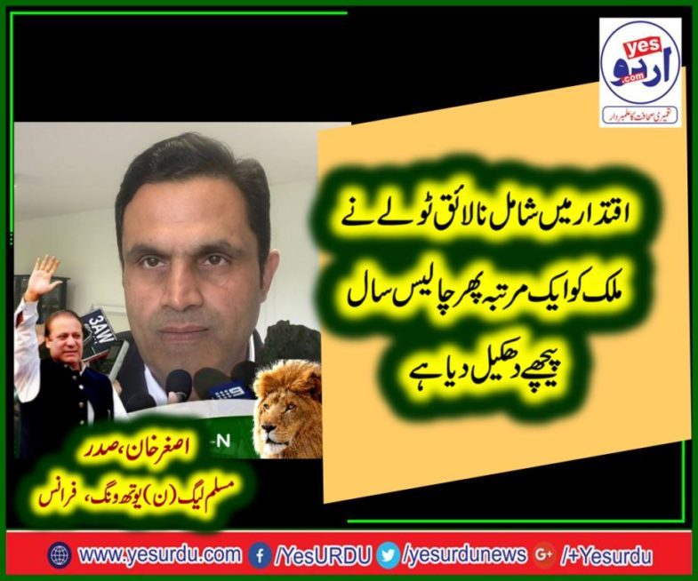 asghar khan, PRESIDENT, PMLN, YOUTH WING, FRANCE