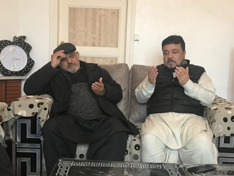 mirza khalid bashir's uncle, died, haji hussain muzamil, sibt muzzamil and, qari farooq ahmed farooqi, visited, his, house, to, express, their, condolence