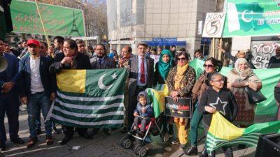 Kashmiri Community Protest In France Lyon