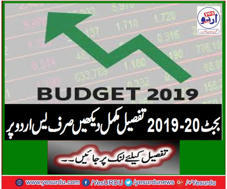 Budget 2019-20 Complete description only on Yes Urdu