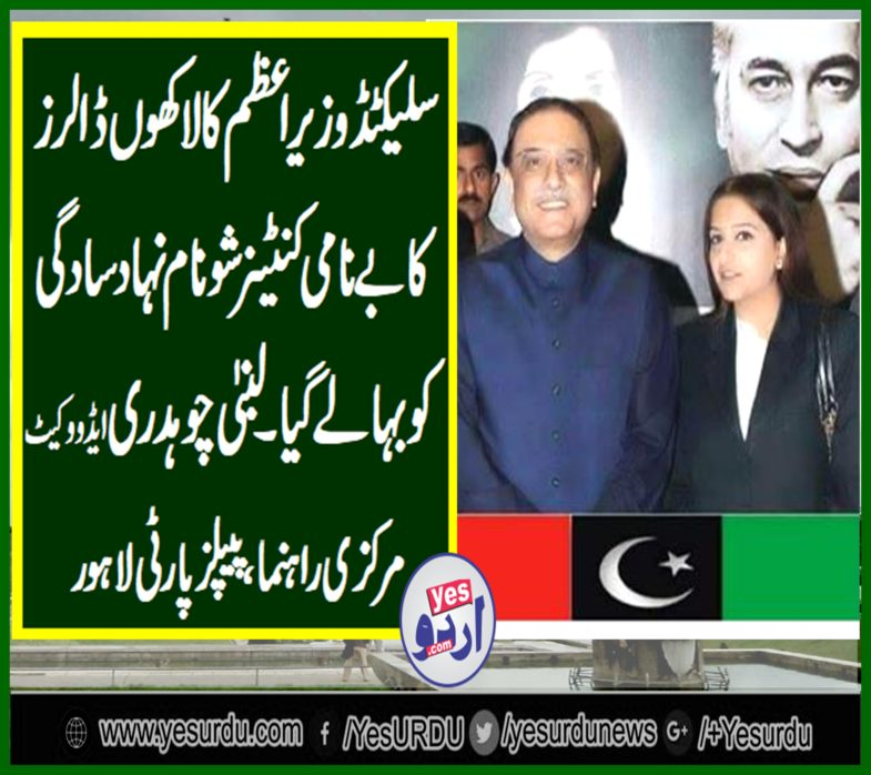 LUBNA CHAUDHRY ADVOCATE, USA, SENIOR, LEADER, PPP, LAHORE, SAYS, SELECTED, PRIME MINISTER, BENAMI, CONTAINER, SHOW, IN, USA, DROWN, HIS, SIMPLICITY, CAMPAIGN, ALSO