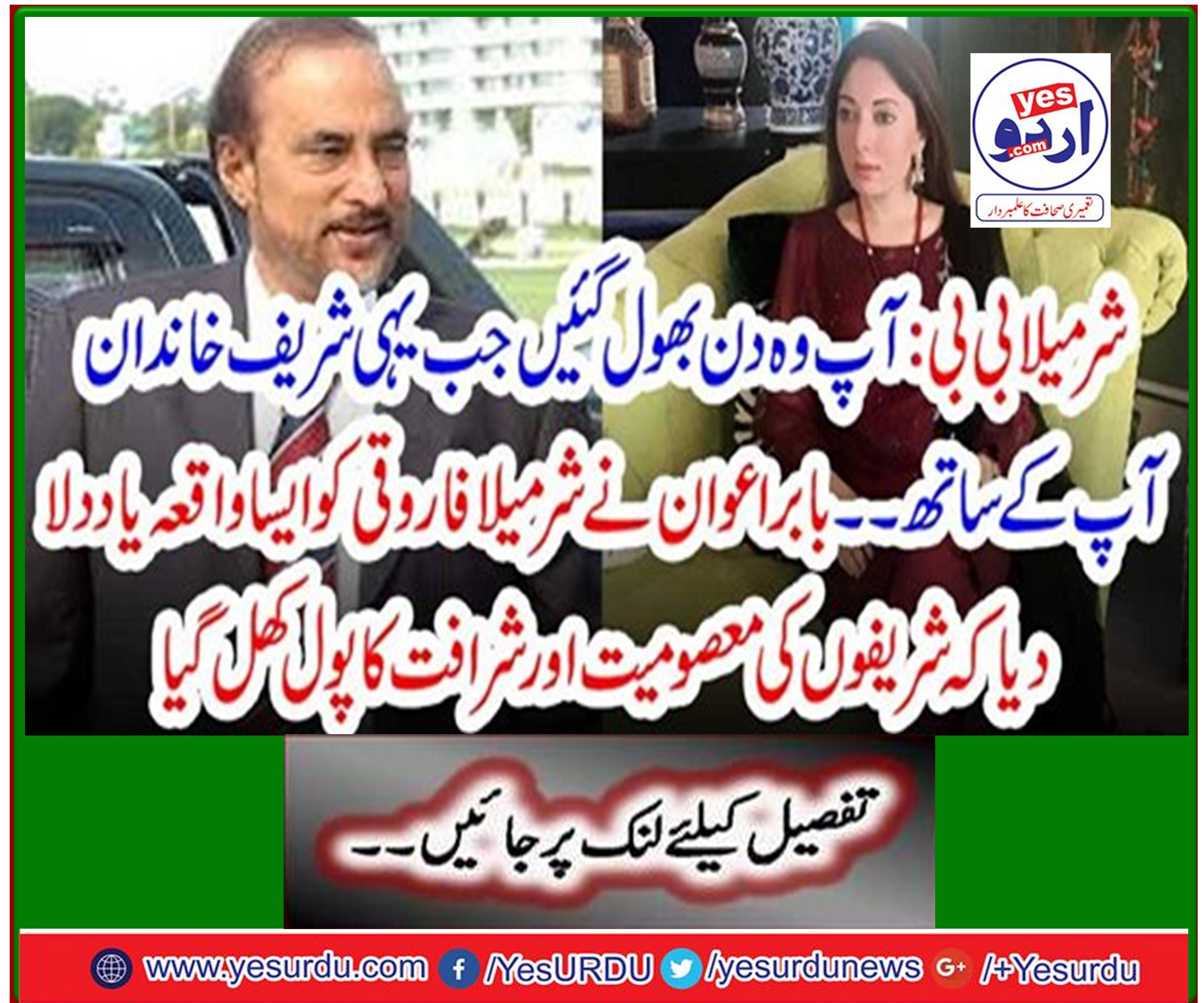 Babar Awan reminds Sharmila Farooqi of an incident in which Sharif's innocence and nobility pool opens