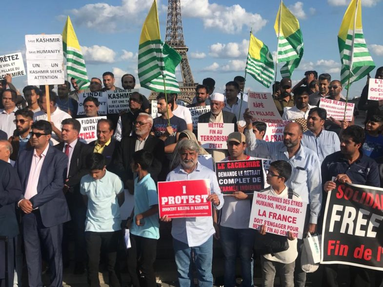 GRAND, PROTEST, BY, PAKISTANI, AND, KASHMIRIS, AT, EIFEL, TOWER, PARIS, AGAINST, INDIAN, GOVT, AND, THEIR, SO CALLED, PRESIDENTIAL, ORDER, OF, ABOLISHING, ARTICLE 370, AND, 35 A