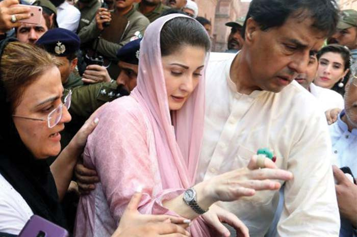 Neither, her, Father, nor, Uncle, who, deposited, 7 millions, rupees, for, Maryam Nawaz, for, her, bail, it, was, her, husband, captain, Safdar, who, deposited, sum, of, 7millions, in, court, and, submitted, bail, plea