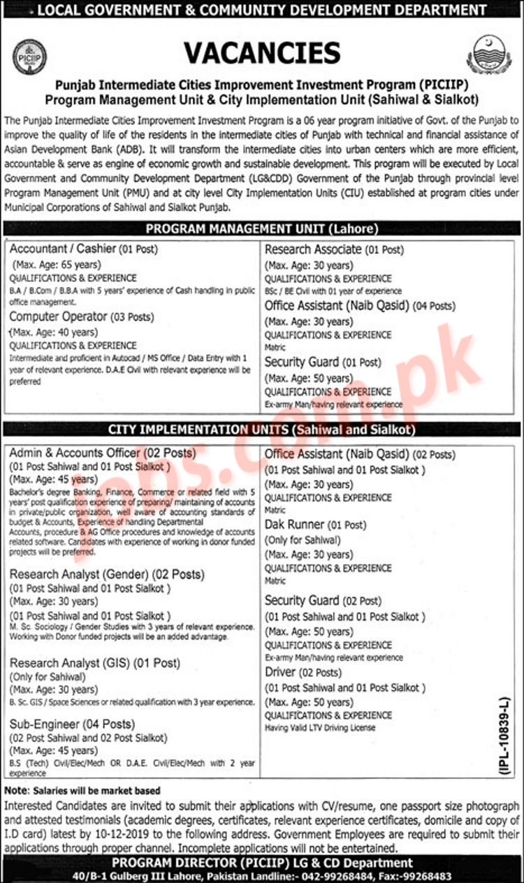 Project,Management,Unit,Punjab,Jobs,2019,for,28+,Posts,in,Multiple,Cities Posted:,21,Nov,2019,11:40,PM,PST Project,Management,Unit,Punjab,Jobs,2019,for,28+,Posts,in,Multiple,Cities,to,be,filled,immediately.,Required,qualification,from,a,recognized,institution,and,relevant,work,experience,requirement,are,as,following.,Eligible,candidates,are,encouraged,to,apply,to,the,post,in,prescribed,manner.,Incomplete,and,late,submissions/applications,will,not,be,entertained.,Only,short,listed,candidates,will,[…]