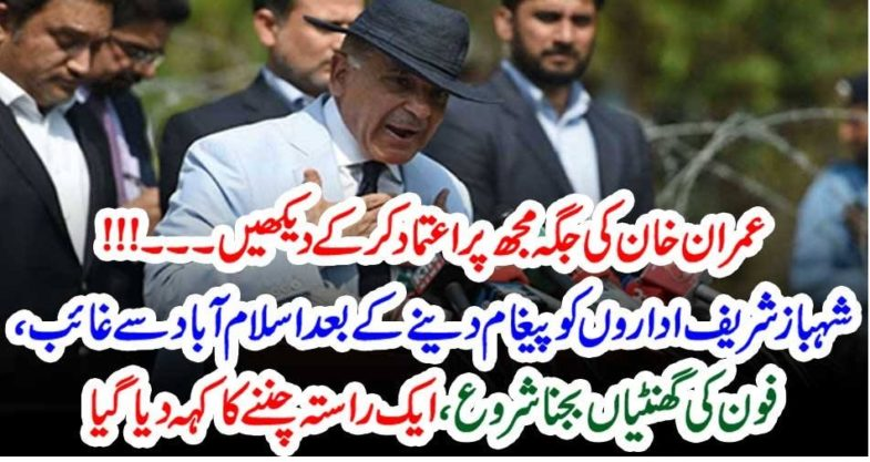 shehbaz shareif, asked, institutions, to, consider, him, instead,of,Imran Khan, he, will, feed,them, fully