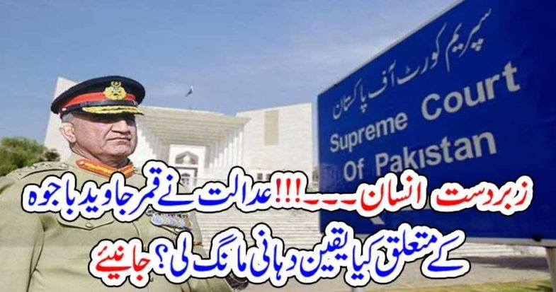 excellent, man, Army Chief, is, Supreme, Court, demanded, assurance, about, extension
