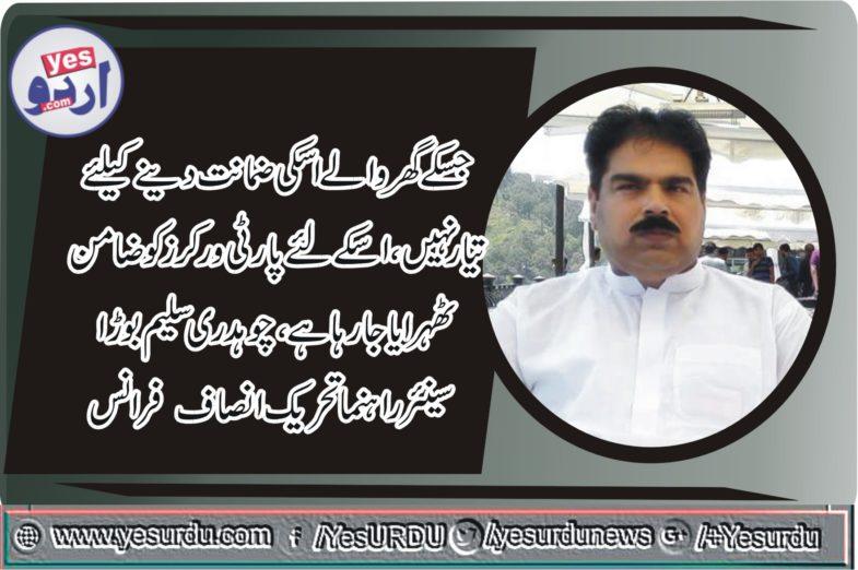 ch saleem borra, senior, lader, PTI, France, Pakistani, people, reaction, on ,Khawaja Asif ,statement, in, parliament