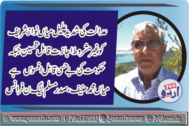 Mian Muhammad Hanif, President, PMLN, France