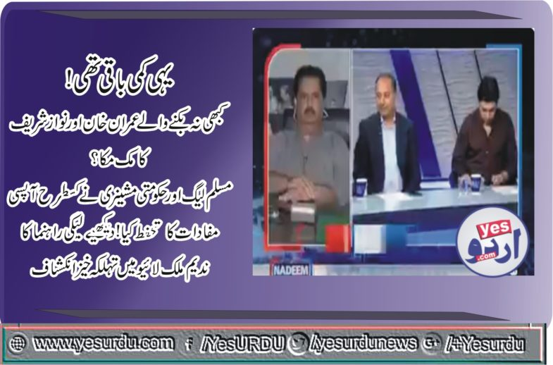 musaddiq malik, took, strong, point of, view, that, PTI, is, part, of, everything, now