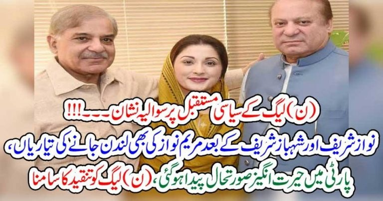 biggest, question, mark, on, the, future, of, Pakistan, mulsim, league, Maryam nawaz, goint, to, London, after, her, father