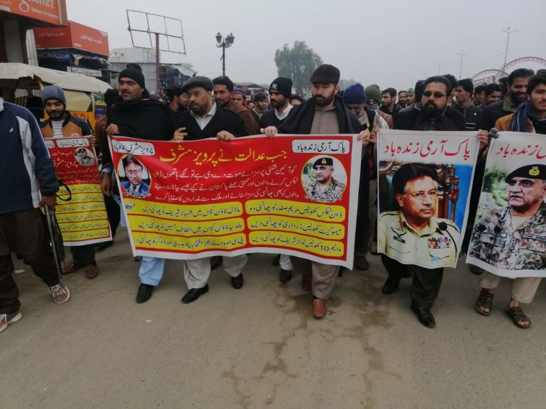 LALAMUSA, PEOPLE, COME, OUT, IN, FAVOR, OF, PAK ARMY, AND, RALLY, WENT, ON, GT ROAD,TO SLAM, CONTROVERSIAL, COURT, VERDICT, AGAINST, GEN R. PERVEZ MUSHARAF