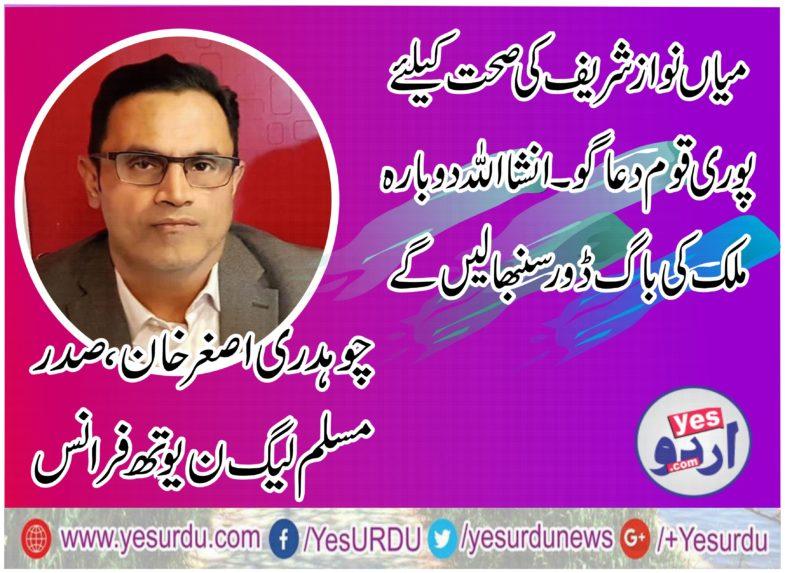 asghar khan, president, pmln, youth wing, france