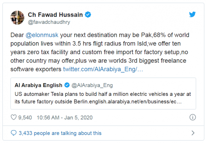 fawad chaudhry, finds, a, businessman, for, investing, in, Pakistan