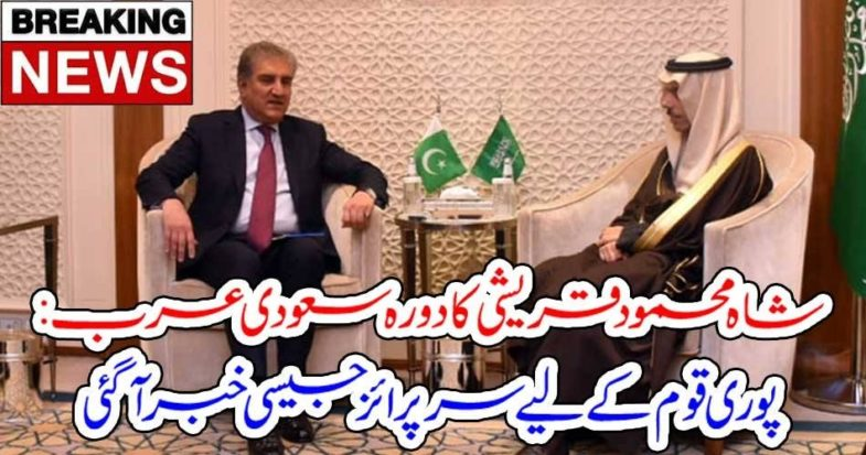 SHAH MEHMOOD QURESHI, VISIT, TO, SAUDI ARABIA, SURPRISE, FOR, WHOLE, NATIN