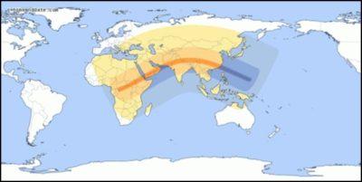 Sun Eclips Map